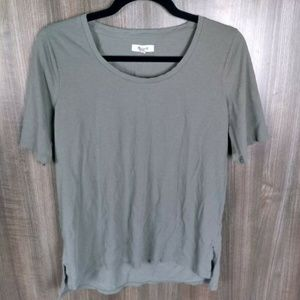 Madewell Women's Olive Green Top Size M T-Shirt